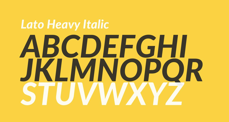 Lato Heavy Italic