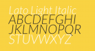 Lato Light Italic
