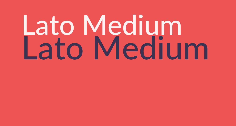 Lato Medium