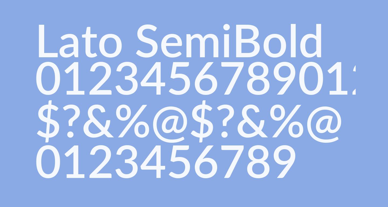 Lato SemiBold