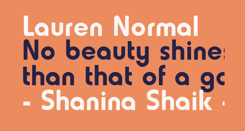 Lauren Normal