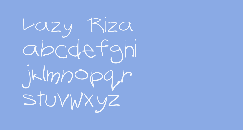 Lazy Riza
