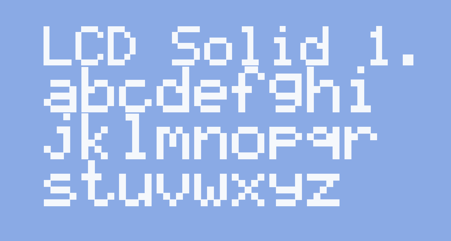 LCD Solid 1.12