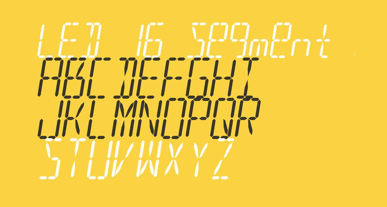 LED 16 Segment 2 Italic