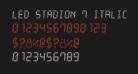 LED Stadion 7 Italic