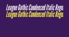 League Gothic Condensed Italic Regular