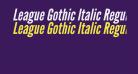 League Gothic Italic Regular