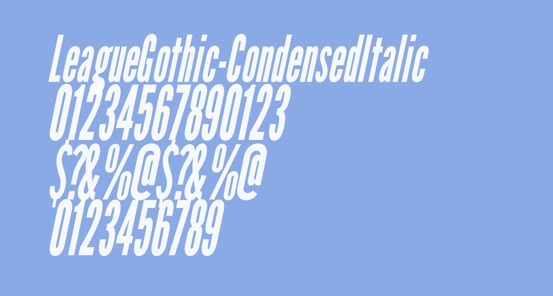 LeagueGothic-CondensedItalic