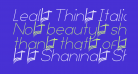 Leal Thin Italic
