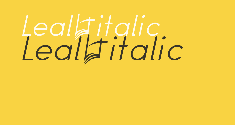 Leal italic