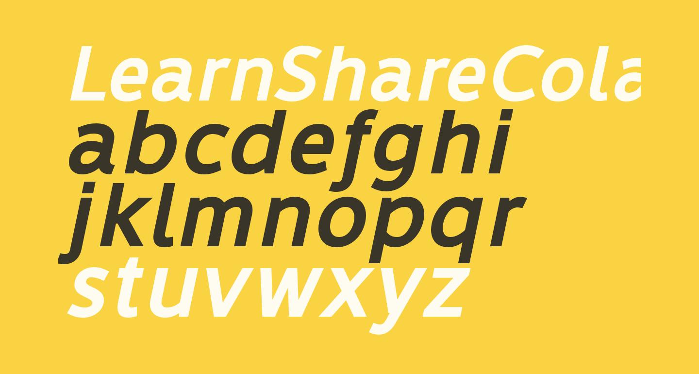LearnShareColaborate-BoldItalic