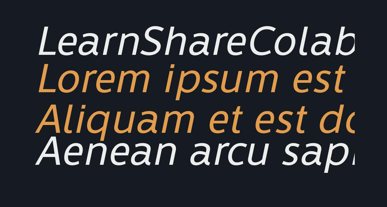 LearnShareColaborate-Italic