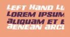 Left Hand Luke Staggered Italic