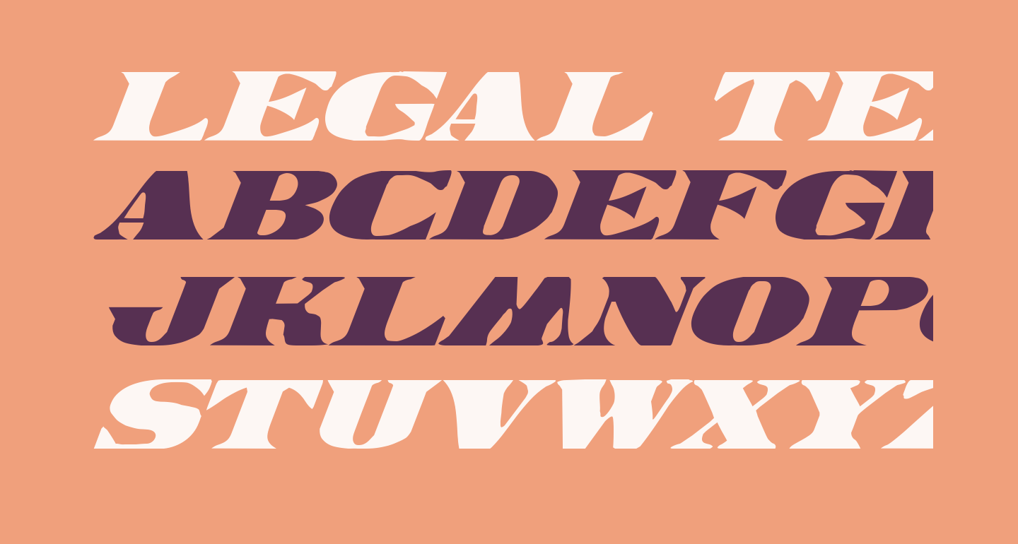 Legal Tender Italic