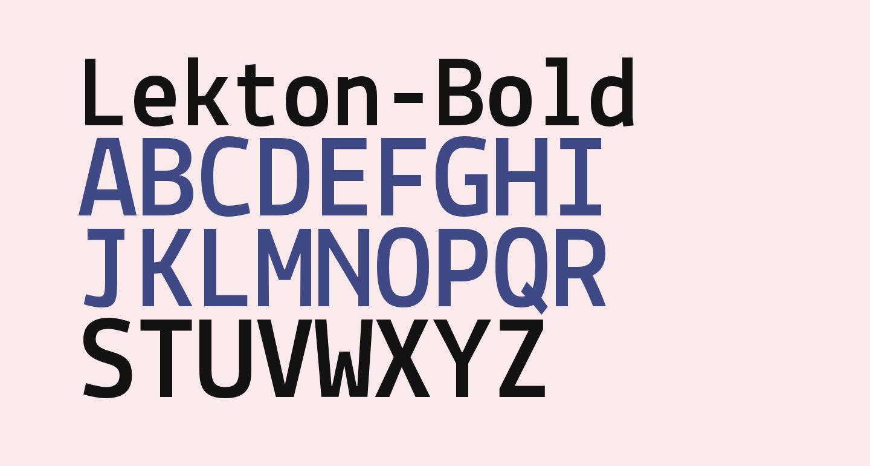 Lekton-Bold
