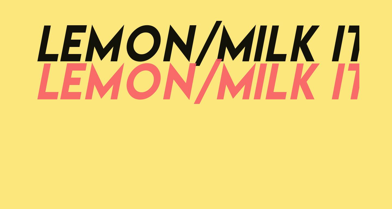 Lemon/Milk italic