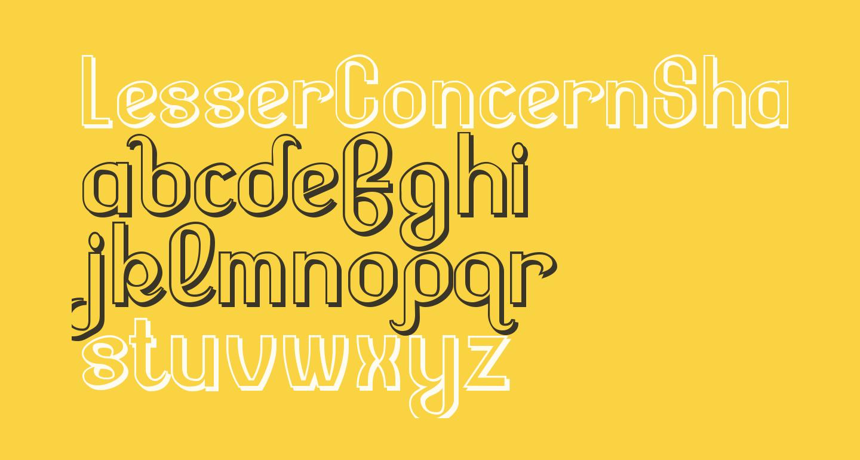 LesserConcernShadow-Regular