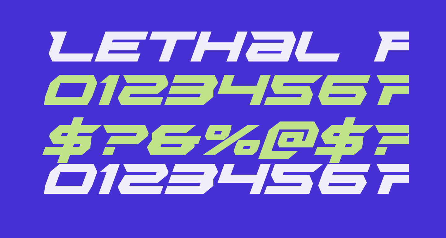 Lethal Force Italic