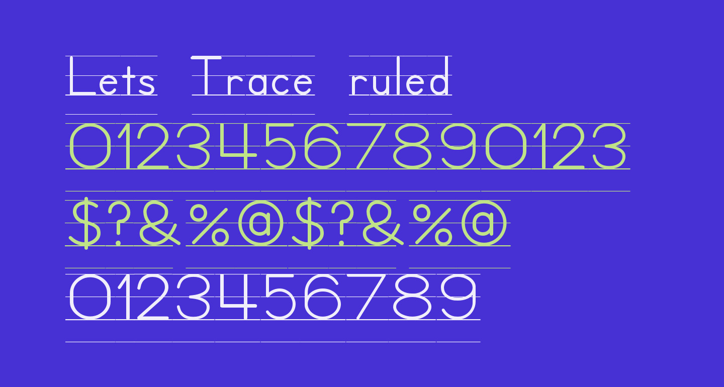 Lets Trace ruled