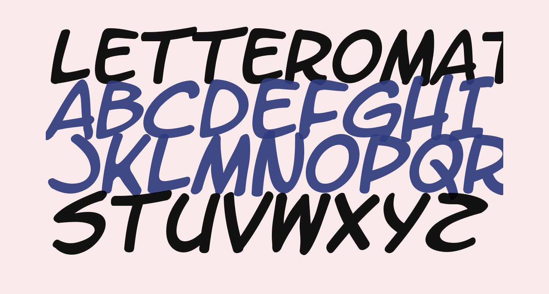 LetterOMatic! Italic