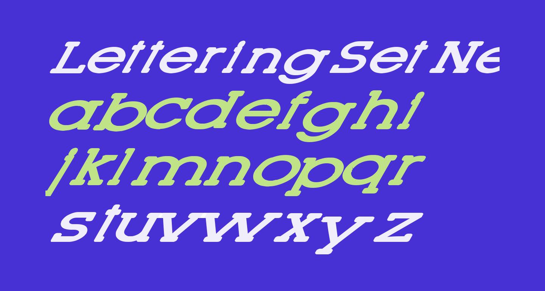 Lettering Set New Italic