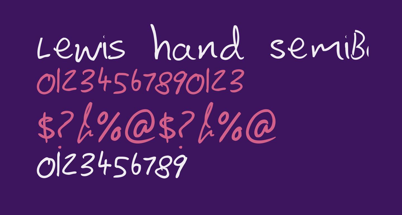 Lewis hand SemiBold