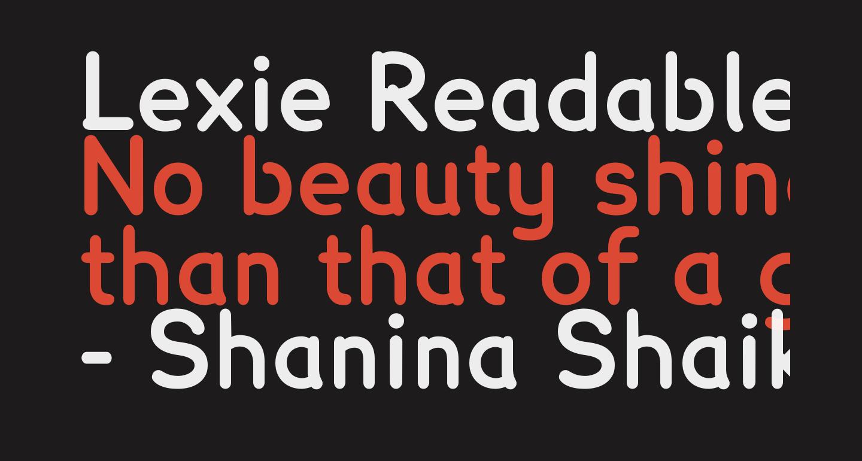 Lexie Readable Bold