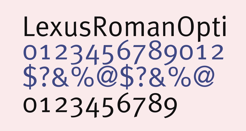 LexusRomanOpti-Regular