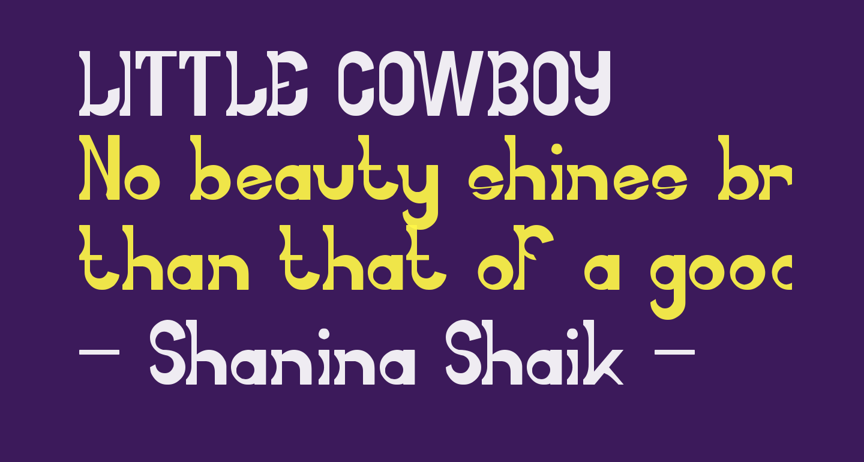 LITTLE COWBOY