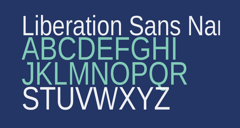 Liberation Sans Narrow