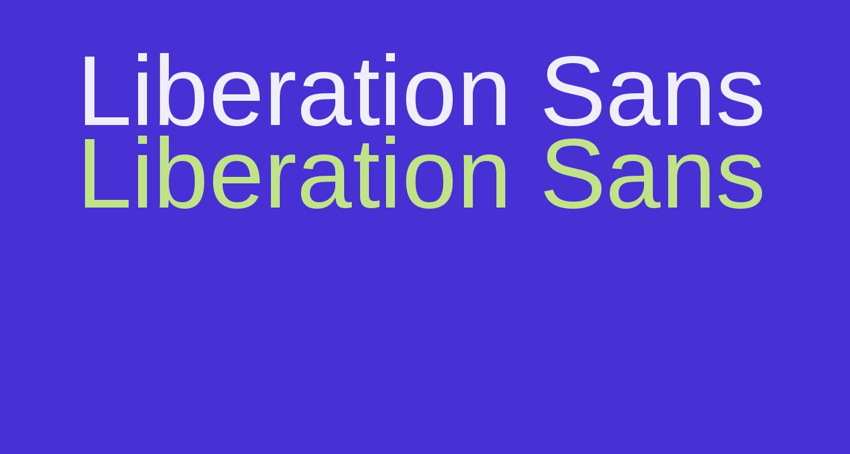 Liberation Sans Regular