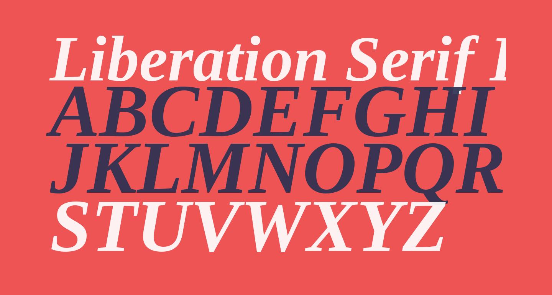 Liberation Serif Bold Italic