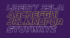 Liberty Island Outline Italic