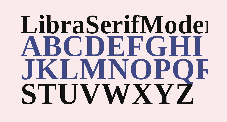 LibraSerifModern-Bold