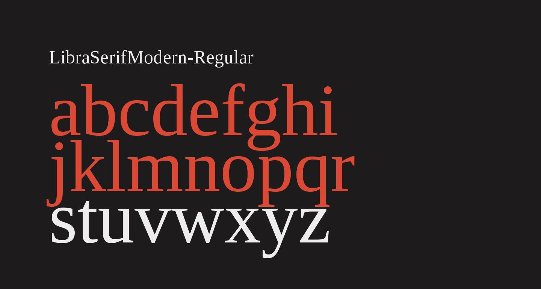 LibraSerifModern-Regular
