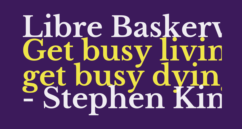 Libre Baskerville Bold