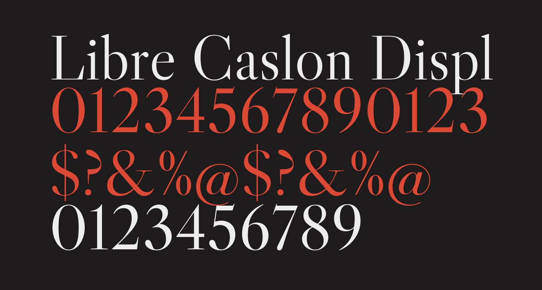 Libre Caslon Display