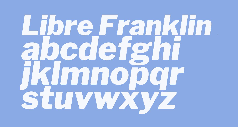 Libre Franklin Black Italic