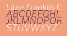 Libre Franklin ExtraLight Italic