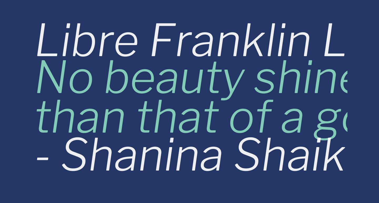 Libre Franklin Light Italic