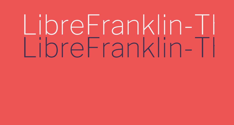 LibreFranklin-Thin