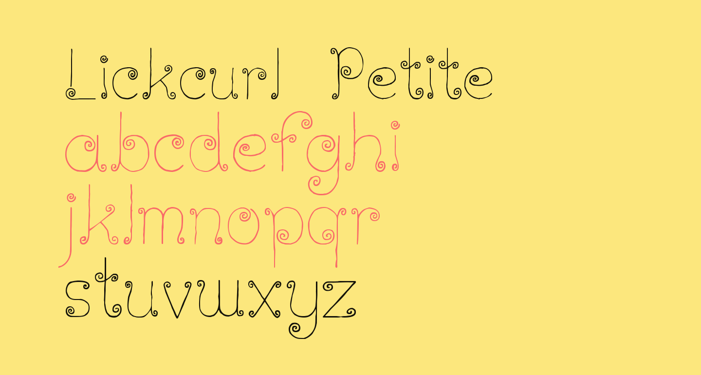 Lickcurl Petite