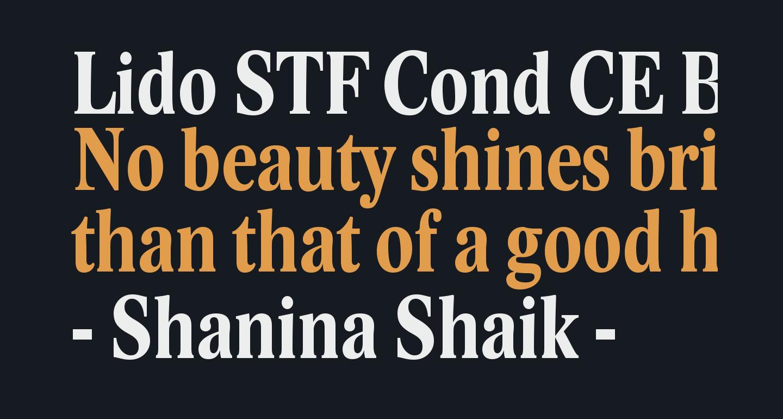 Lido STF Cond CE Bold