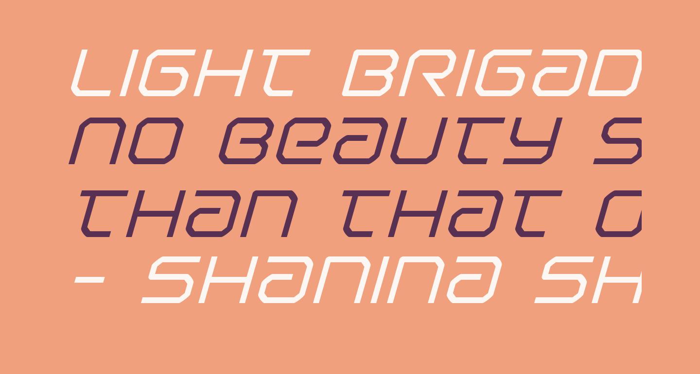Light Brigade Italic
