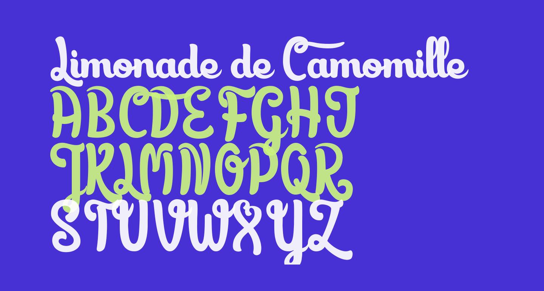 Limonade de Camomille