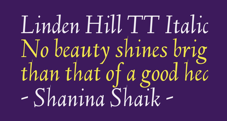 Linden Hill TT Italic
