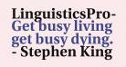 LinguisticsPro-Bold