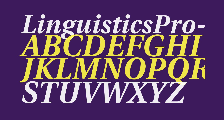 LinguisticsPro-BoldItalic