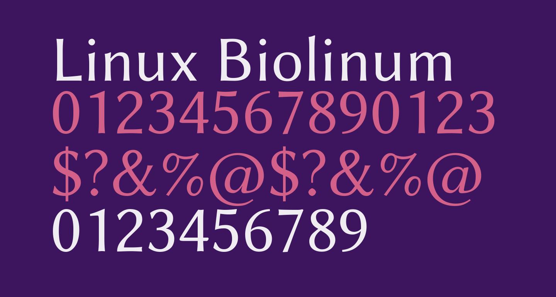 Linux Biolinum