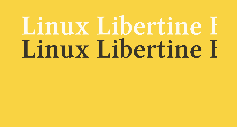 Linux Libertine Bold